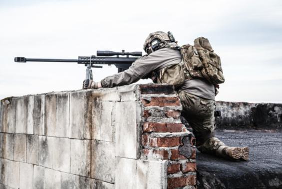 Eine Truppe Scharfschützen im Einsatz